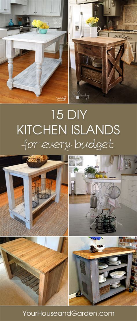 kitchen island diy 15 gorgeous diy kitchen islands for every budget