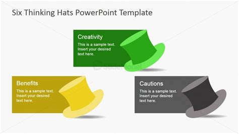 thinking hats for powerpoint slidemodel