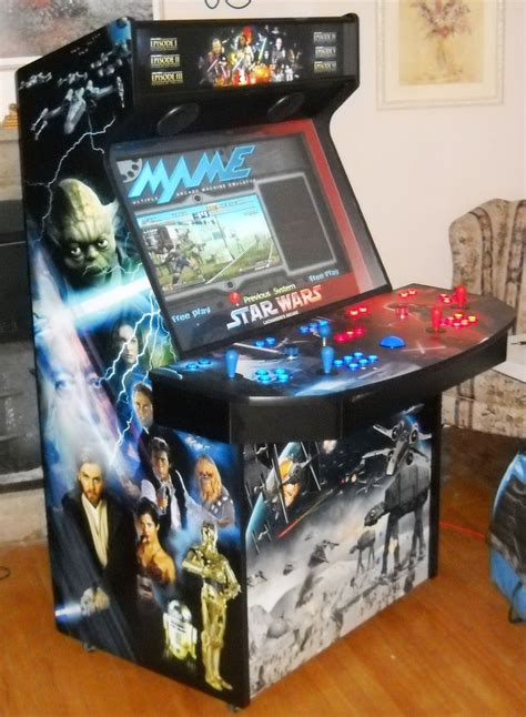 4 player arcade cabinet plans wow star wars tribute 4 player 37 quot lcd home arcade