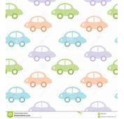 Childish Background With Cars For Baby Boy Stock