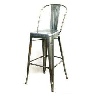 Pewter Finish Bar Stools by Restaurant Furniture Edison Bar Stool Pewter Finish
