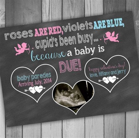 valentines pregnancy announcement printable pregnancy