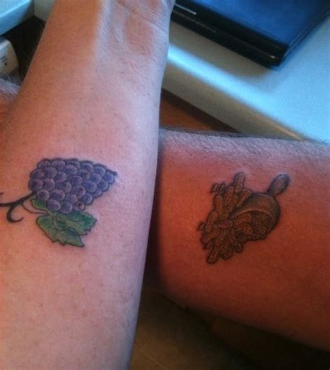 our couples tattoo we go together like peanut butter and