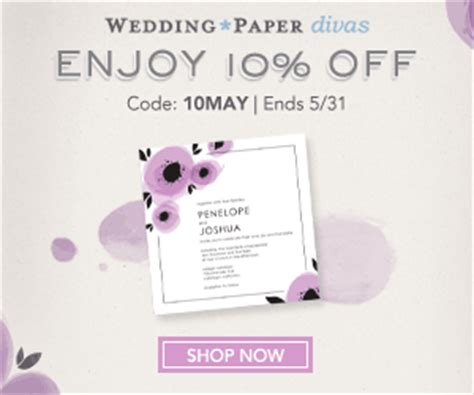 wedding paper divas promo wedding paper divas save 10 orders of 99 save the