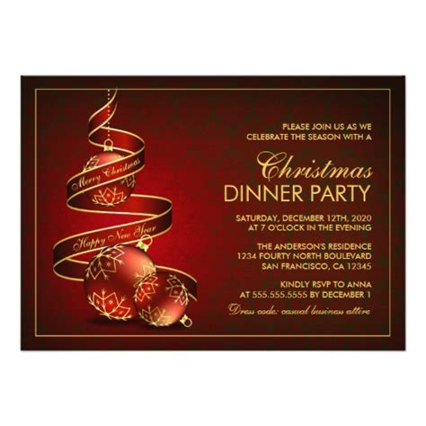 free templates for christmas dinner invitations elegant christmas dinner party invitation template zazzle