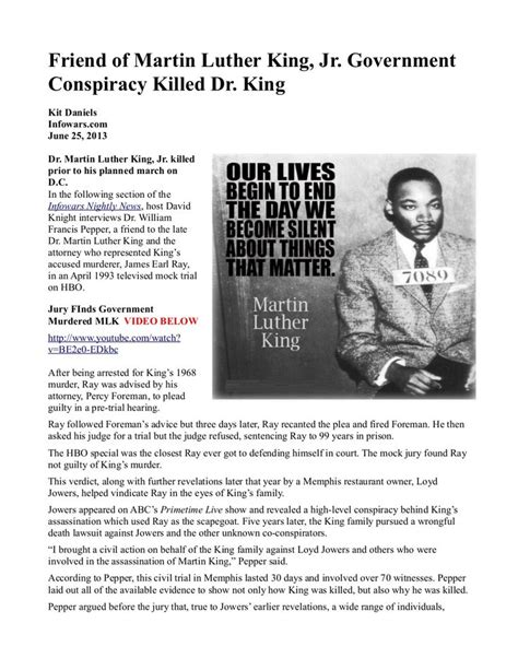 how the government killed martin luther king jr 105 best images about martin luther king on pinterest
