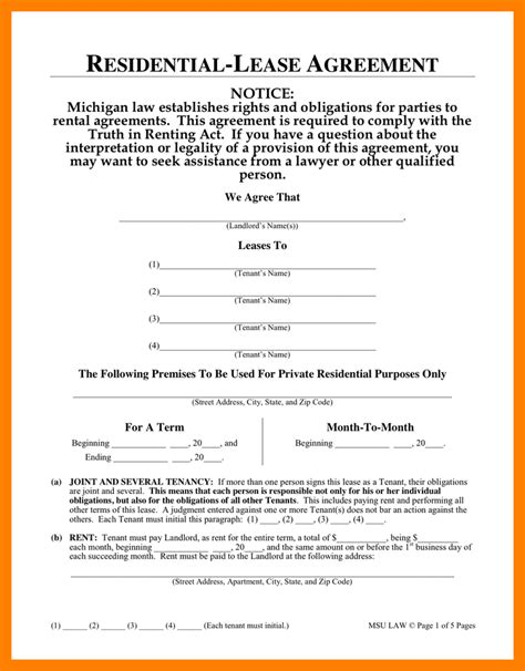 one page lease agreement template 10 one page lease agreement resumes great