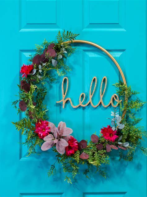 10 diy christmas wreaths hgtv how to make a hula hoop word wreath hgtv