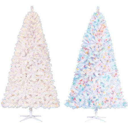 holiday time pre lit 65 madison pine white artificial christmas tree clear lights time pre lit 7 5 berkshire pine white artificial tree color changing lights