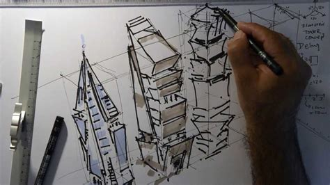 Barry Berkus by Fast Sketch Tower Design Isometric Perspective Youtube