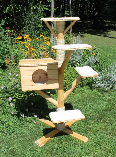 outdoor cat furniture trees wooden outdoor cat project best home decorating ideas
