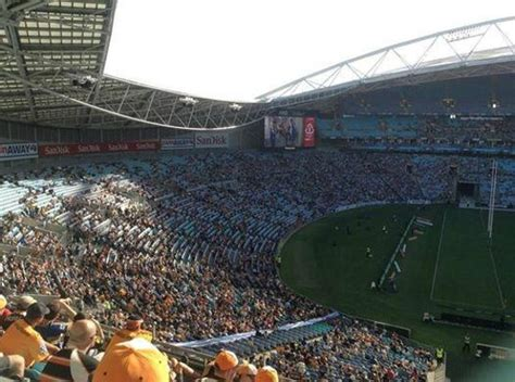 nose bleed section gold seating view picture of anz stadium sydney