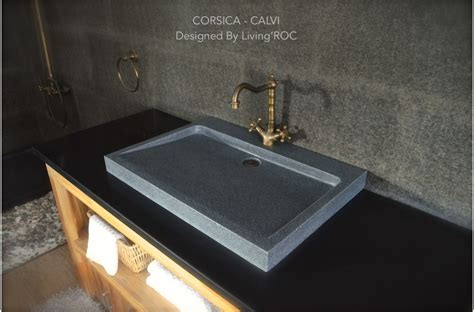 granite bathroom sink 27 quot gray granite stone bathroom sink corsica