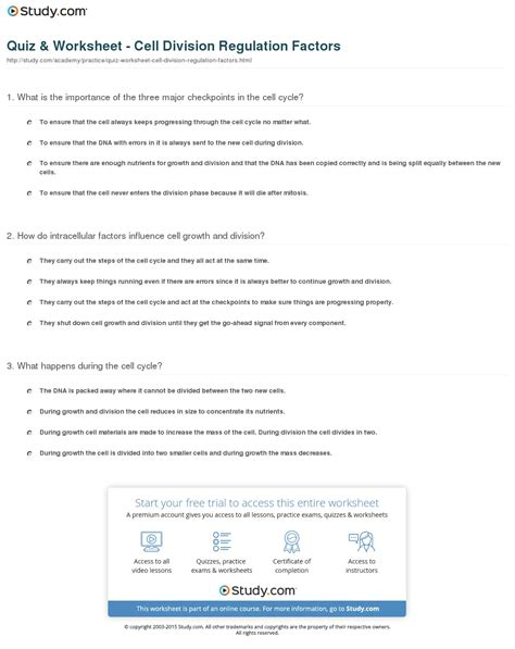 Chapter 10 Cell Growth And Division Vocabulary Review Worksheet Answers by Cell Growth And Division Worksheet Worksheets Tutsstar