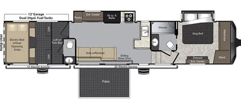 raptor toy hauler floor plans 2017 keystone raptor 422sp cing world of rapid city