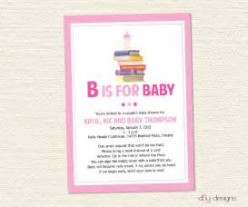 Baby girl announcement poems book baby shower invitation by
