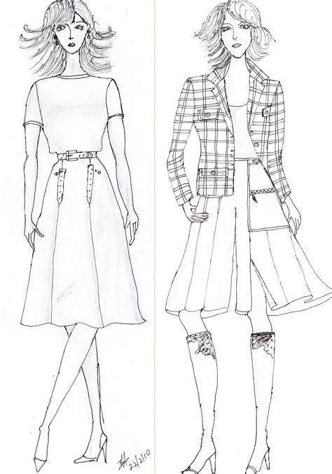 design murid illustration kursus tata busana wiwi