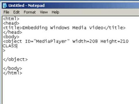 html tutorial how to insert image how to add video or audio to your website using notepad