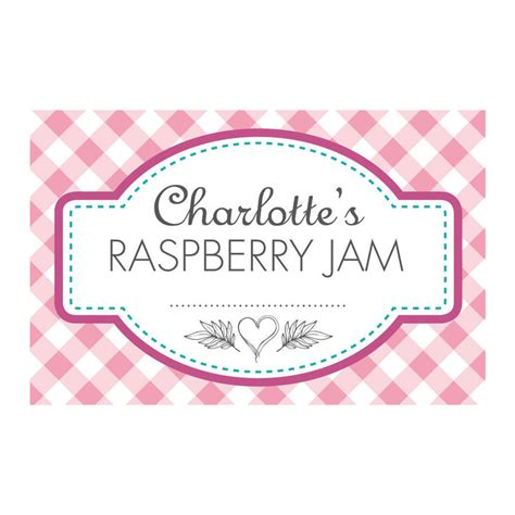jam labels template personalised gingham jam jar labels by able labels