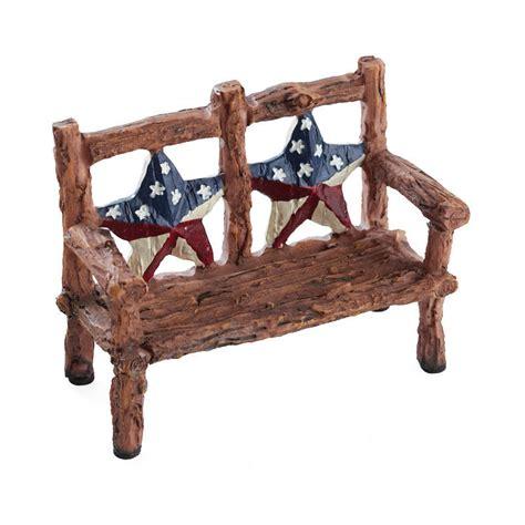 miniature bench miniature patriotic garden bench fairy garden miniatures