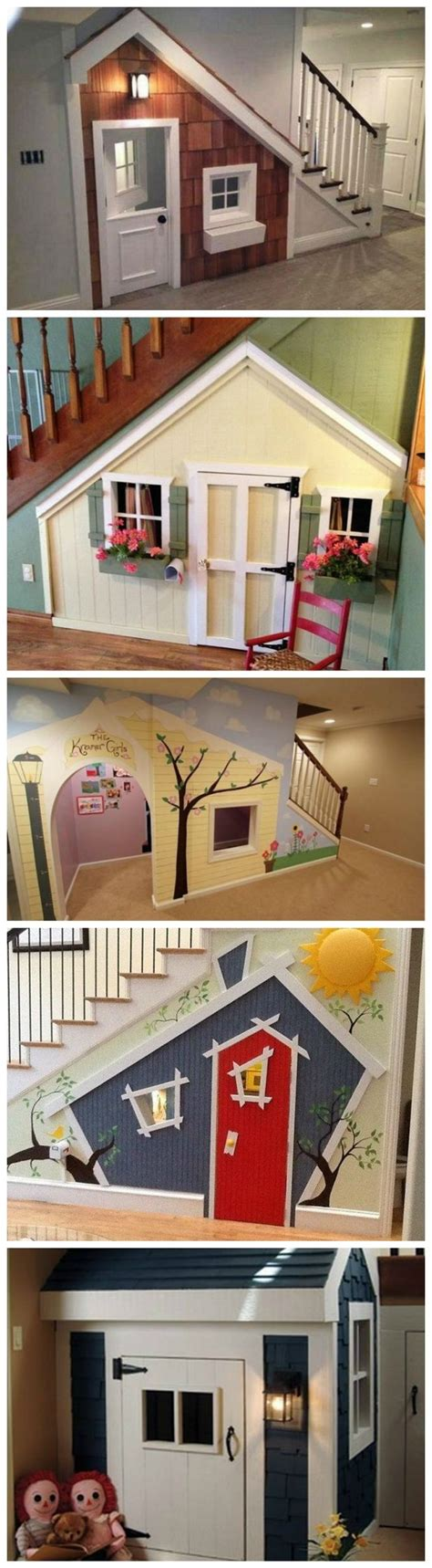 Make Your Basement Ideas So Cool Indoor Playhouse Stairs Organizing Pinterest Indoor Playhouse Kid And Creepy Dolls