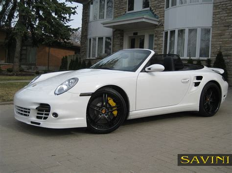 porsche black wheels 997 savini wheels