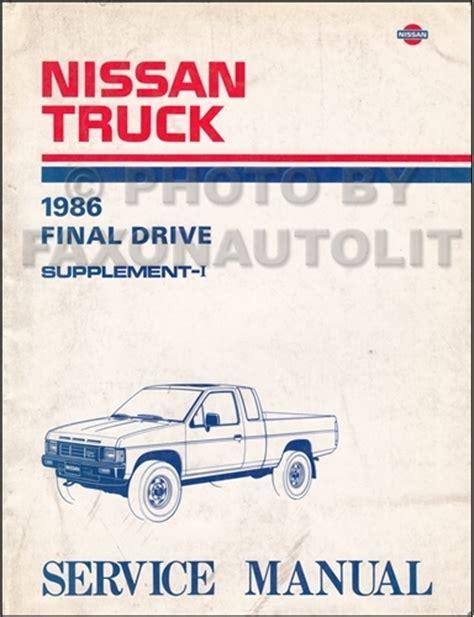 1986 Nissan Hardbody D21 Truck Repair Shop Manual Original
