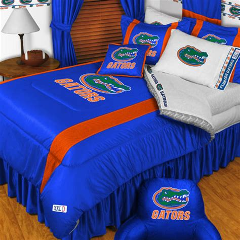 All State 3pc Quilt Bed Set Boys Sports Football Comforter Ebay Florida Gators Comforter Set 3pc College Football Bedding