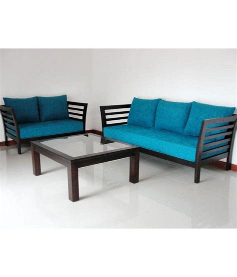 Wooden Sofa Set Without Cushion by Lifeestyle Mango Wood Sofa Set With Cushion And Covers 3