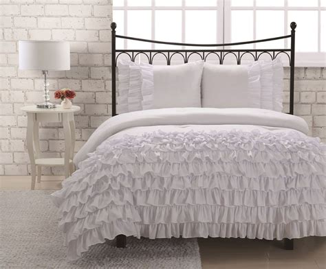 twin ruffle comforter ruffled bedding is frilly and feminine webnuggetz com