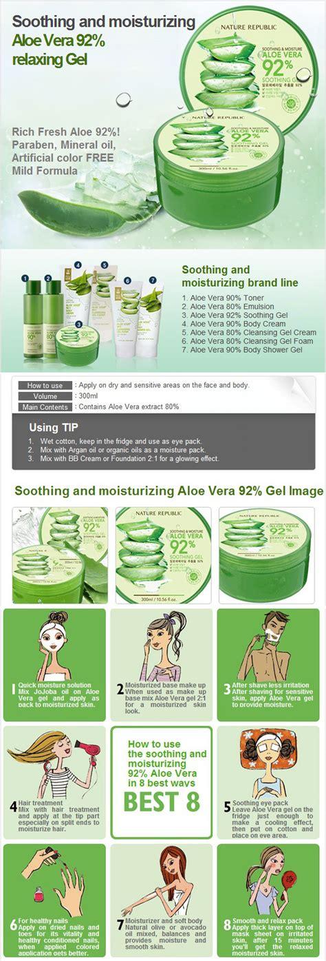 Nature Republic Aloe Vera Soothing Gel Pimples how to use nature republic aloe vera soothing gel healthy
