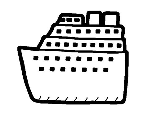barco crucero dibujo dibujo de crucero para colorear dibujos net