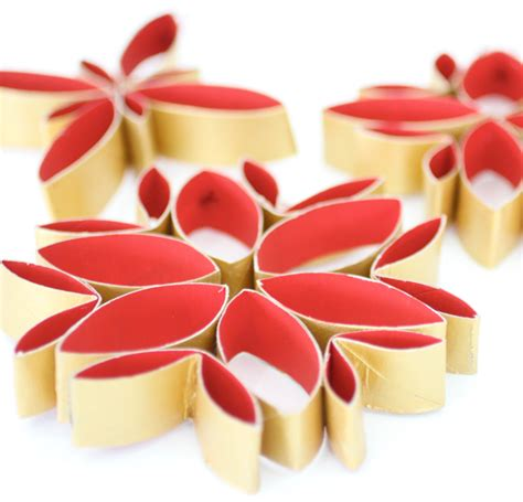 christmas decoration with toilet paper rolls stylish decorations from toilet rolls