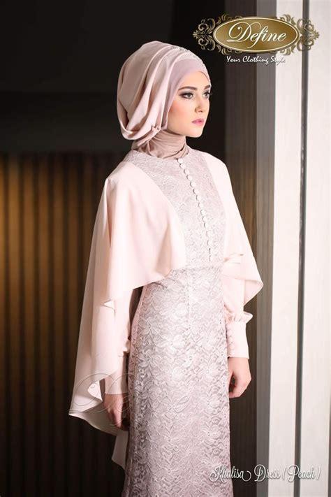 2in 1 baju kebaya wanita modern warna navy baju kondangan modern khalisa dress gamis pesta mewah yang elegan nan syar i