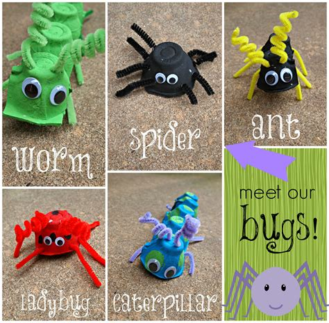 How To Make Arts And Crafts Out Of Paper - snap crafts egg bugs kid craft tutorial