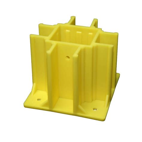 home depot safety yellow paint safety boot yellow osha compliant guardrail base with