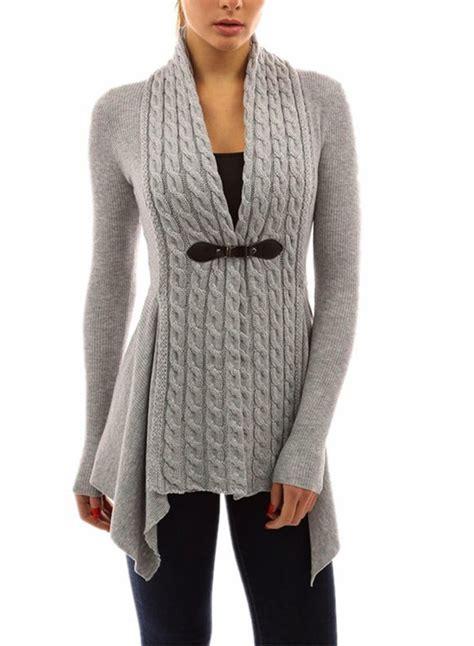 7 Cutest Womens Sweaters by S Fashion Sleeve Irregular Slim Fit Cardigan