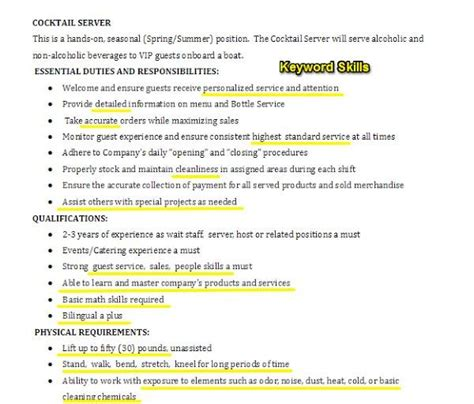 Industry Jargon Resume by Bartender Resume Sle Complete Guide 20 Exles