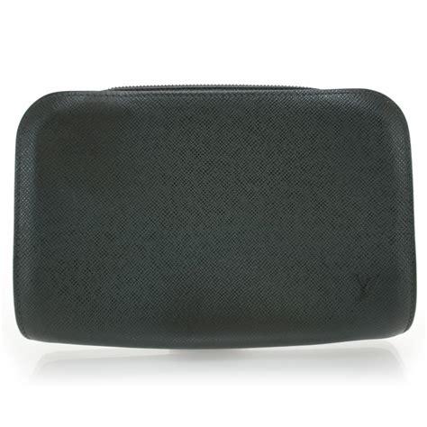 Jual Pouch Handbag Lv Louis Vuitton Baikal Taiga Black Mirror Qualit louis vuitton taiga baikal pochette toiletries bag clutch