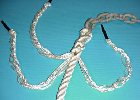 how to do a rope to chain splice anchoring articles and