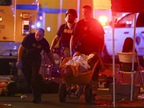las vegas shooting las vegas shooting survivors used wheelbarrows and a truck