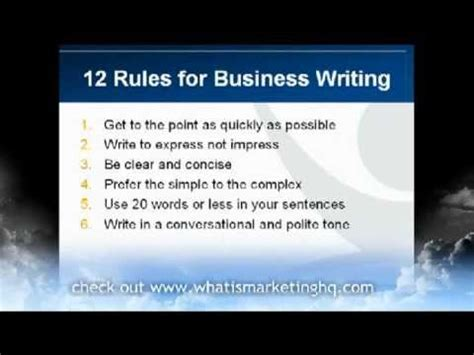 Business Letter Writing Skills 12 Business Writing Tips For Effective Business Emails And