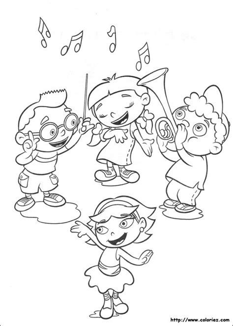 bunnytown coloring page coloriage les petits einstein aiment la musique