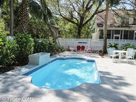 Cottage With Pool by Coral Cottage Pool Tybee Cottages