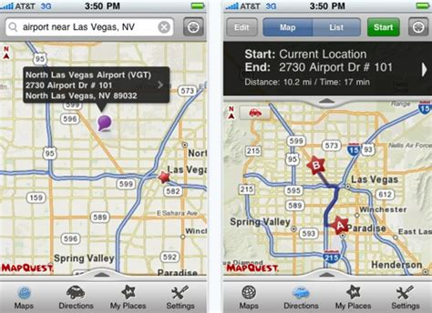 Mapquest Home by Mapquest 4 Mobile Brings Voice Guidance Gps To Iphone