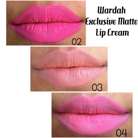 Wardah Lip No 4 review wardah exclusive matte lip no 02 no 03 no 04 adenadonia