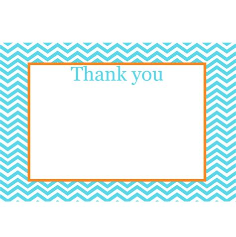printable thank you cards with photo orange blue printable 4x6 thank you cards