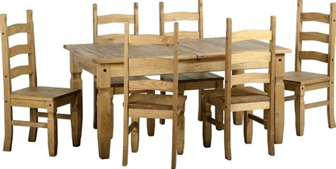 corona pine dining table set extending to 2 metre and