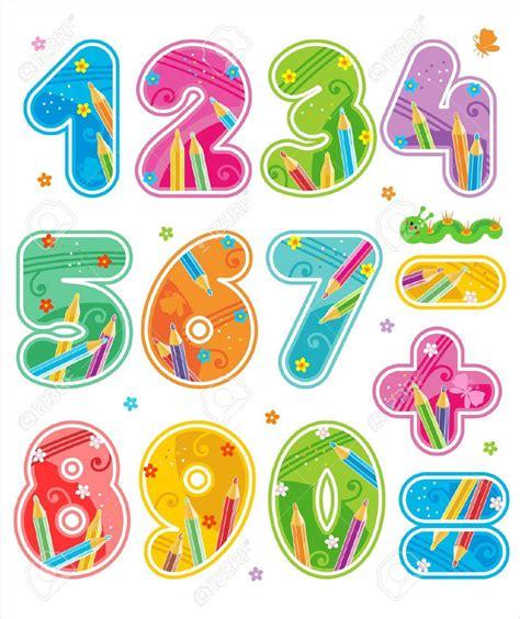 imagenes infantiles numeros n 250 meros decorados coloridos con signos aritm 233 ticos 0 1