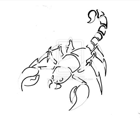 simple scorpion tattoo designs simple scorpion drawings